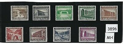 1936 Complete MH stamp set / Winter Relief Fund / Nazi Germany / Third Reich