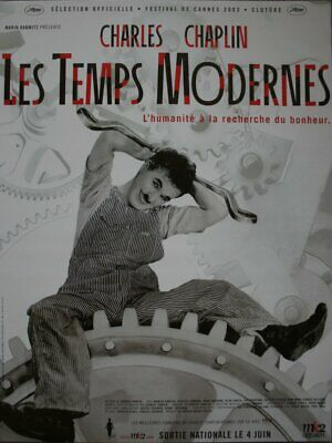 LES TEMPS MODERNES Affiche Cinema ROULEE 53x40 Movie Poster R1990