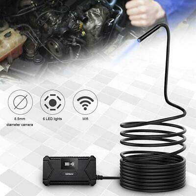 1/2m Cable Endoscope Borescope Snake Inspection Camera 6 LED For Mac IOS Android