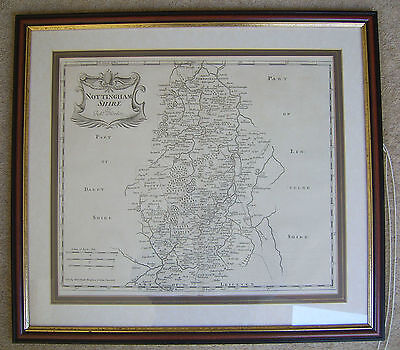 Nottinghamshire: antique map by Robert Morden, 1695 and later