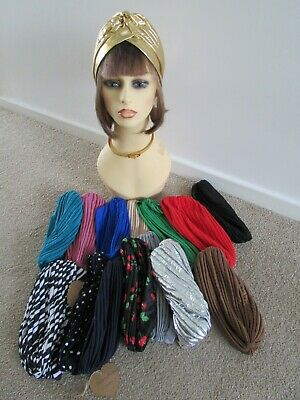 Rockabilly Stretchy RetroTurban's Vintage Look Many Color's ideal Chemo hats