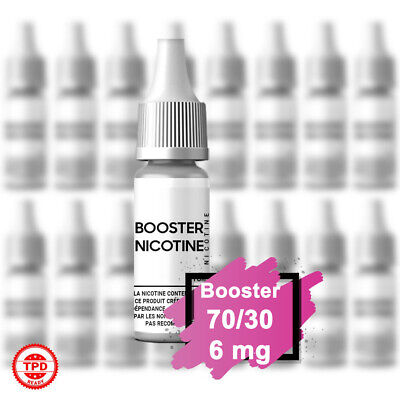 Pack Booster Nicotine 6 mg 10 ml 70/30 - 70% PG / 30% VG DIY Lot de Bouteilles