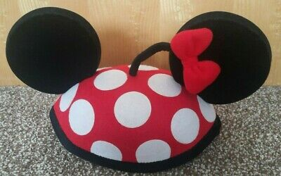 Disney Theme Parks Minnie Mouse Polka Dot Bow Ear Hat Cap