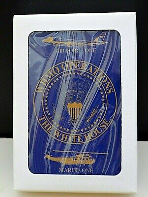 Trump (Whmo) White House Military Office Playing Cards~Af-1 & Hmx-1~Blue & Gold