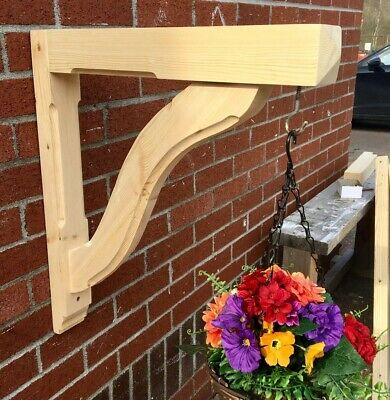 PAIR of Gallows Bracket by George Woods - Wooden Timber Porch Bespoke - SNAKE