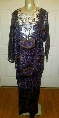 Beautiful  Traditional Tribal Dashiki Purple PlusSize/One Size