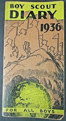 """Vintage Boy Scout Diary 1936 """"for All Boys"""" Official Diary Published By Bsoa"""