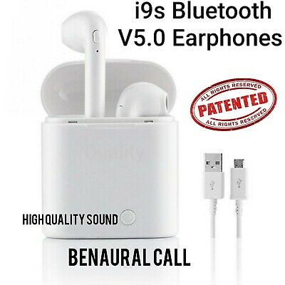 i9s Wireless Bluetooth Earphones Headphones Earbuds Airpods for iphone & samsung