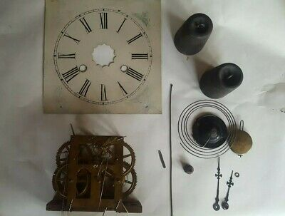 New Haven USA style Clock Parts - Dial, Hands, movement, weight,pendulum
