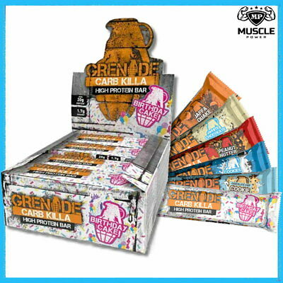 Grenade Carb Killa Protein Bars 6 & 12X60G Low Carb High Protein 23G Low Sugar