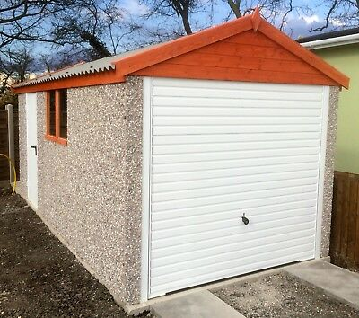 CONCRETE GARAGE 16'2''x 8'5'' (APEX ROOF) INC WINDOW