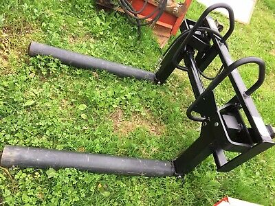 Quicke ALO Flexibal Round Bale Handler, Rollers And Tines, Euro Brackets