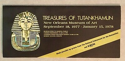 Treasures of TUTANKHAMUN, New Orleans Museum of Art 1977-1978