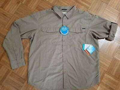 79db13aa1b1 COLUMBIA Mens Kestrel Trail Long Sleeve Shirt NWT XXL Omni-Wick/Shade UPF 50
