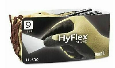 ANSELL Hyflex Gloves 11-500 Size 9 Cut Gloves -12 Pairs