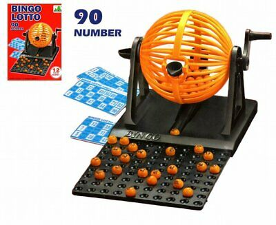 90 Balls 12 Cards Traditional Bingo Game Lotto Lottery Family Game Set Uk Seller