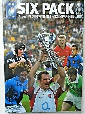 Six Pack RBS 6 nations championship from 2004 RUGBY PROGRAMME free p&p to uk