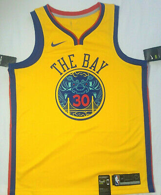 b1636d155b1 Nike Stephen Curry Golden State Warriors Chinese New Year Jersey Med 44 The  Bay
