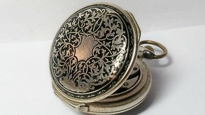 K.serkisoff Ottoman Billodes(Zenith)Taschenuhr Silber.turkisch Pocket Watch