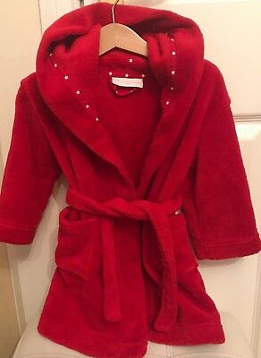 The little white company Baby Red Dressing Gown Size 18-24 Months