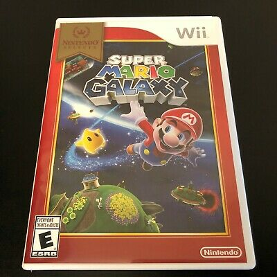 Super Mario Galaxy (Nintendo Wii, 2007) Complete with Manual- Tested