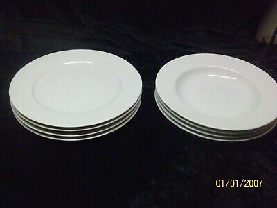 Set of 8 Ikea Susan Pryke White Dinner Plates and Bowls 21464 NEW