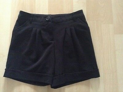 Girls Aged 9-10 Years Black Shorts By George