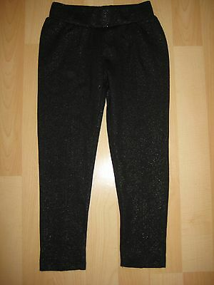 Girls Aged 4 Years Black Stretch Trousers with Metallic Thread from Next