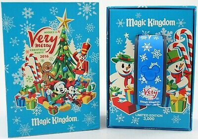 NEW Disney Parks Mickey's Very Merry Christmas Party 2016 MagicBand LE 3000