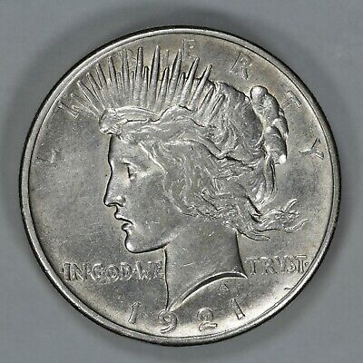 1921 Peace Silver Dollar $1 Slider Choice Au+++ About Uncirculated Plus ++ (9355