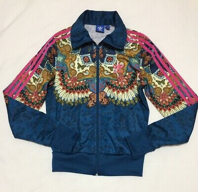 sale retailer ef5bd 386ab Adidas Originals Borbomix x Farm Co Track Jacket Womens XS Butterfly Blue  Pink