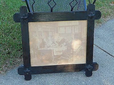 Mission Arts & Crafts Antique Fumed Oak Picture Frame Stickley era