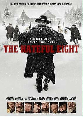 The Hateful Eight (Dvd,2016,Release) Epic,Brilliant,Free Shipping...
