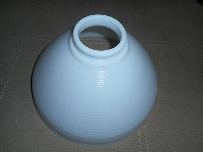 "ANTIQUE 10"" VINTAGE WHITE GLASS DIFFUSER TORCHIER SHADE WAFFLE Corning 82416 (Z)"