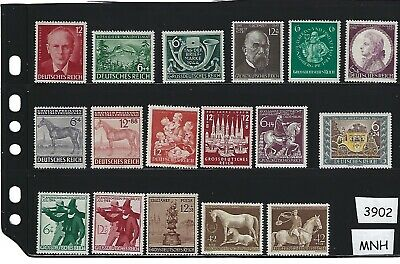 1940s stamps from the Third Reich all stamps MNH  / Nazi Germany / Third Reich