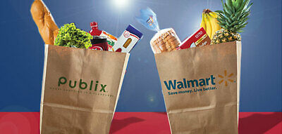 Get CASH BACK on groceries with PUBLIX WALMART Not a gift card, works with EBT