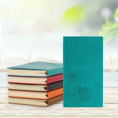 A6 Universal Lined Pocket Journal Soft Leather 200Pages Ruled Diary Notebook 1PC