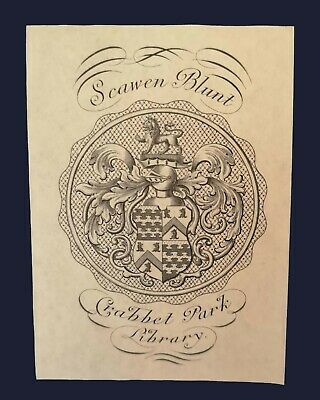 [early 20th century] Armorial bookplate of Wilfrid Scawen Blunt