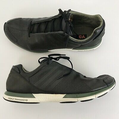 timeless design db017 16490 Yohji Yamamoto Y-3 Adidas Men s Leather Suede Sneakers Size 10.5 Black Green
