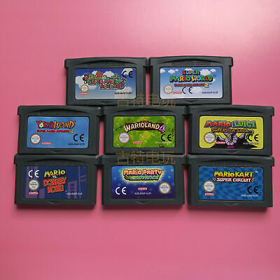 GBA Cartridge Console Card SUPER MARIO Advance World Video Game Card EUR Version