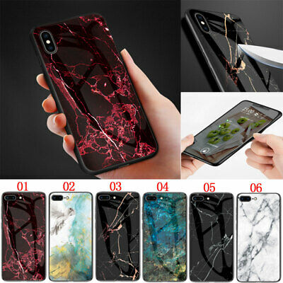 Luxury Marble Tempered Glass Case Cover For iPhone XS Max XR 6 6S 7 8 Plus X XS