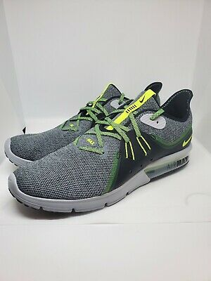 ff4c4783b2 Nike Air Max Sequent 3 Black Grey Running Cross Training Shoes 921694007  Size 12