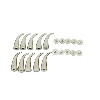 10 Sets Silver Screw Bullet Rivet Spike Studs Spots DIY Punk Shoes Bag Craft