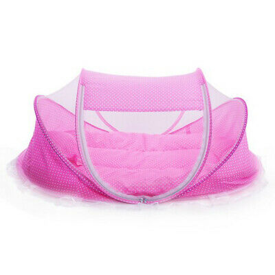 Baby Infant Foldable Travel Bed Crib Canopy Mosquito Net Tent&Mattress