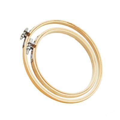 2Pcs Wood Cross Stitch Machine Embroidery Hoop Ring Sewing Frame 3 4 inch