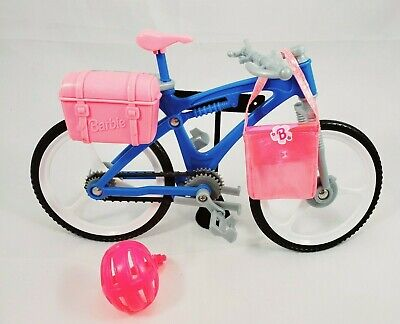 Barbie Mountain Bike Play set Bicycle 1998 Blue With Helmet and Bag