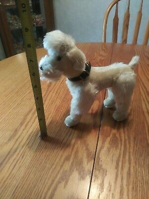 "Vintage Steiff? Poodle Dog Plush Stuffed 9"" Mohair No Tags"