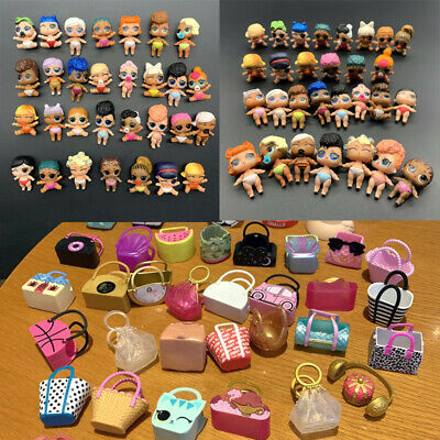 Lot 20Pcs LOL Surprise Doll Lil Sister + bag cap accessory toy -random no repeat