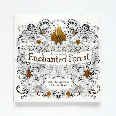 NEW Enchanted Forest An Inky Quest & Coloring Book by Johanna Basford 2015
