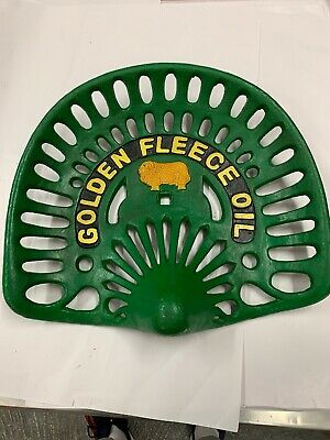 Golden Fleece Oil Cast Iron Tractor Seat Ram Vintage New